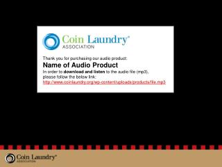 Thank you for purchasing our audio product: Name of Audio Product
