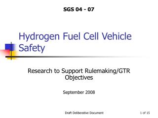 Hydrogen Fuel Cell Vehicle Safety