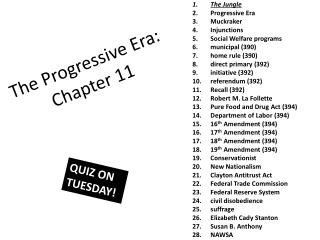 The Progressive Era: Chapter 11