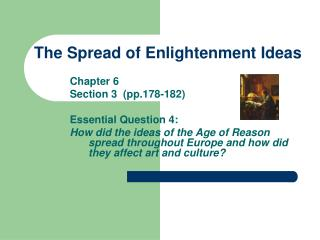 The Spread of Enlightenment Ideas