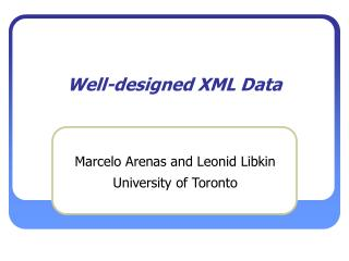 Well-designed XML Data