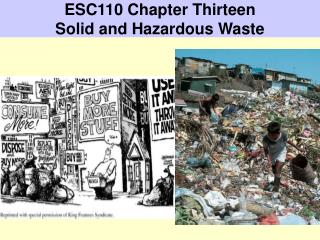 ESC110 Chapter Thirteen Solid and Hazardous Waste