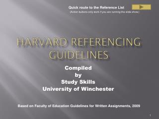 Harvard Referencing guidelines