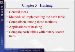 Chapter 5   Hashing