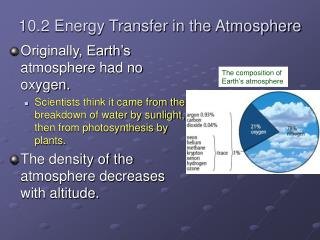 10.2 Energy Transfer in the Atmosphere