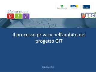 Il processo privacy nell'ambito del progetto GIT