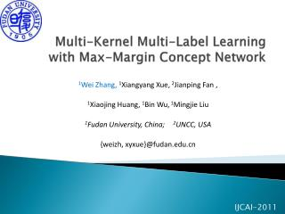 Multi-Kernel Multi-Label Learning with Max-Margin Concept Network