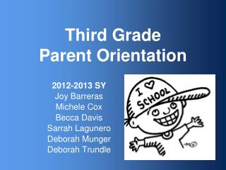 Third Grade Parent Orientation