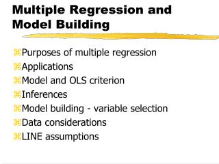 Multiple Regression and Model Building