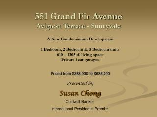 551 Grand Fir Avenue Avignon Terrace - Sunnyvale