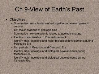 Ch 9-View of Earth's Past