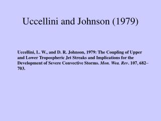 Uccellini and Johnson (1979)