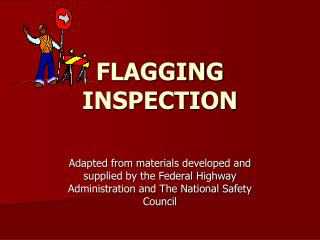 FLAGGING INSPECTION