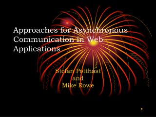 Approaches for Asynchronous Communication in Web Applications