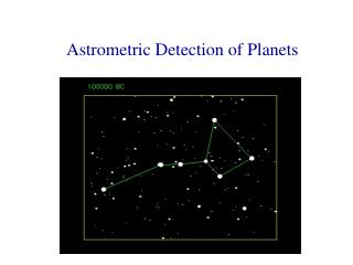 Astrometric Detection of Planets