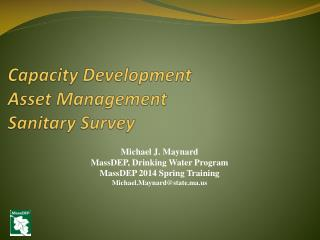 Capacity Development Asset Management  Sanitary Survey
