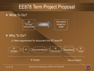 EE878 Term Project Proposal