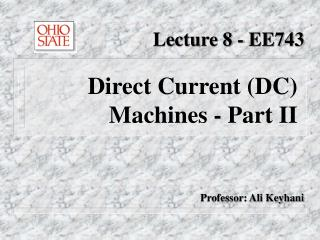 Lecture 8 - EE743