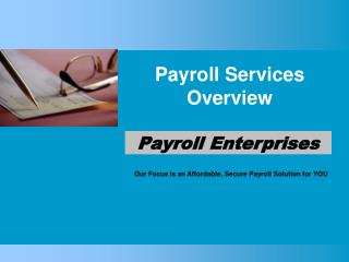 Payroll Services Overview