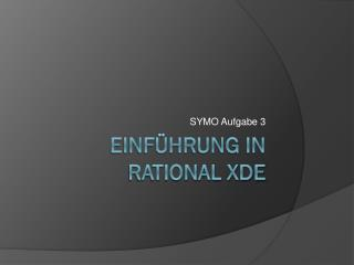 Einführung in Rational XDE