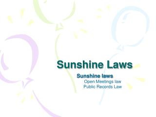 Sunshine Laws