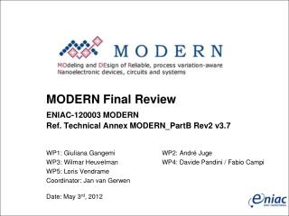 MODERN  Final Review  ENIAC-120003 MODERN Ref. Technical Annex  MODERN\_PartB  Rev2  v3.7