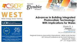 Advances in Building Integrated Photovoltaic Technology 1