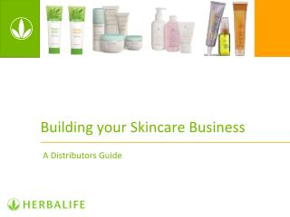 Building your Skincare Business