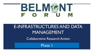 E-Infrastructures and Data Management Collaborative Research Action