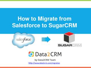 Salesforce to SugarCRM Migration Effortlessly