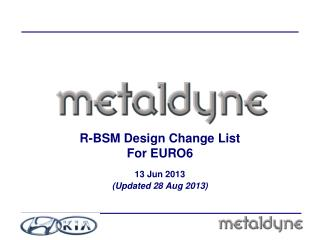 R-BSM Design Change List For EURO6