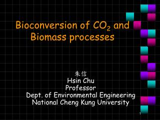 Bioconversion of CO 2  and Biomass processes