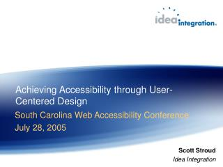 Achieving Accessibility through User-Centered Design
