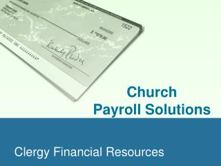 Clergy Financial Resources