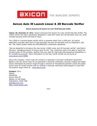 Axicon Auto ID Launch Linear & 2D Barcode Verifier