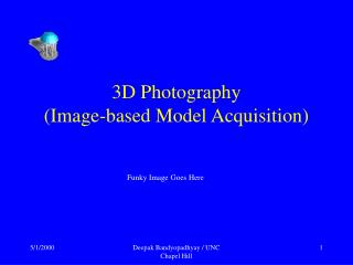3D Photography (Image-based Model Acquisition)