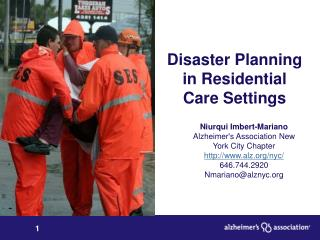 Disaster Planning in Residential Care Settings