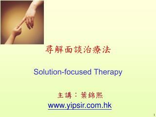 尋解面談治療法