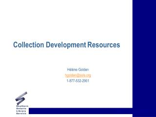 Collection Development Resources