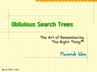 Oblivious Search Trees