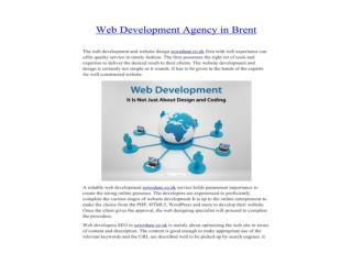 Web Development Agency in Brent