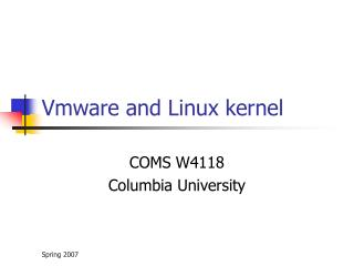 Vmware and Linux kernel