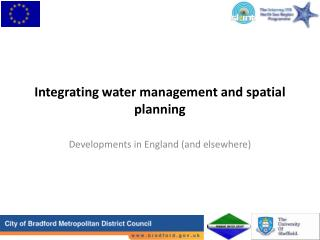 Integrating water management and spatial planning