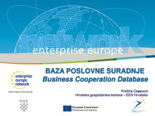 BAZA POSLOVNE SURADNJE Business Cooperation Database