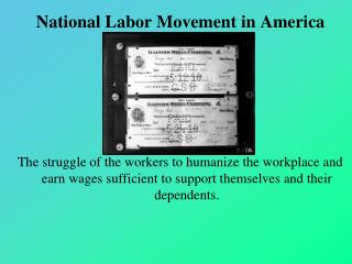 National Labor Movement in America