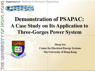 Demonstration of PSAPAC:  A Case Study on Its Application to Three-Gorges Power System