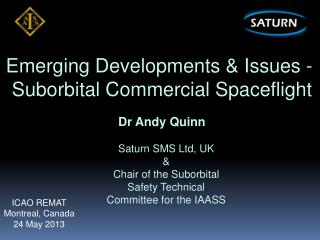 Emerging Developments & Issues -  Suborbital Commercial Spaceflight
