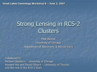 Strong Lensing in RCS-2 Clusters
