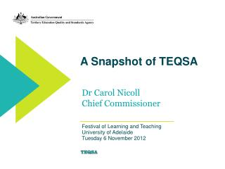A Snapshot of TEQSA