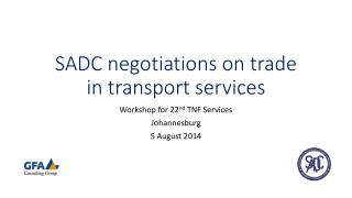 SADC negotiations on trade in transport  services